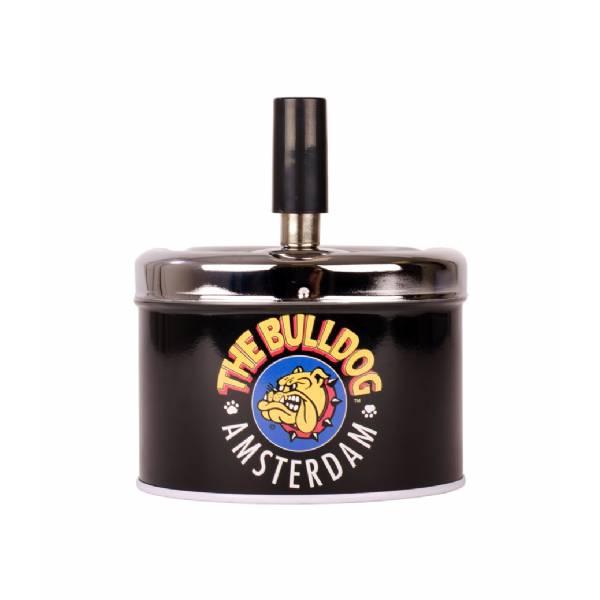 The Bulldog - Spin Top Ashtray Logo Black