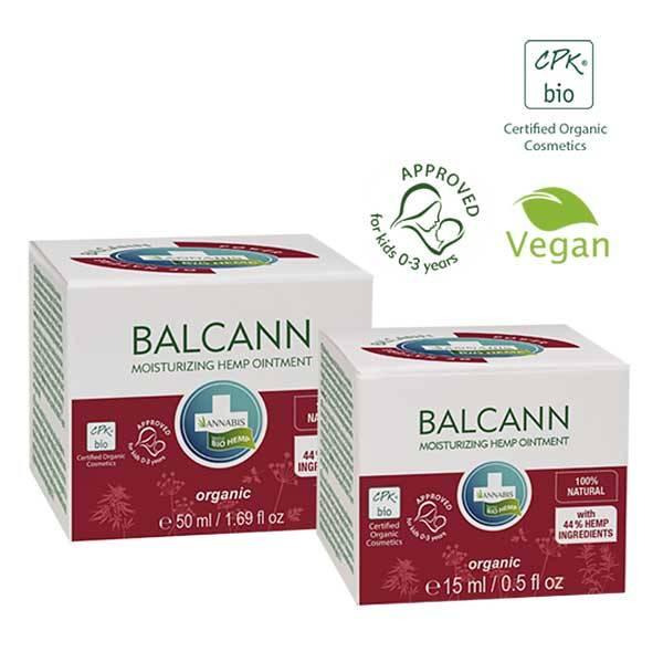 BalCann - Unguento con olio di canapa Rigenerante per la Pelle di Tutto il Corpo