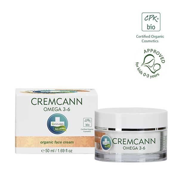Crema Viso Antirughe Naturale con Olio di Canapa CremCann