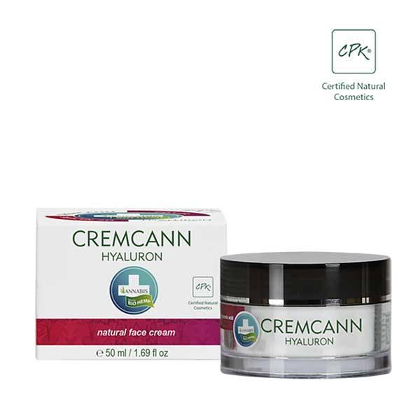 Cremcann Hyaluron Crema viso idratante naturale con olio di canapa e acido