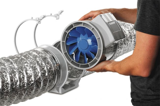Blauberg: Estrattore D'Aria Bi-Turbo 12,5cm + cavo - 220/280m3/h