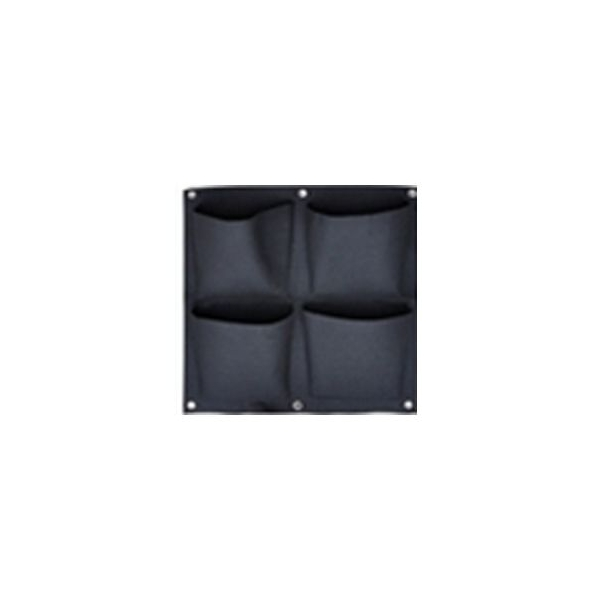 Vaso Feltro Appendibile - 4 Tasche Verde Verticale