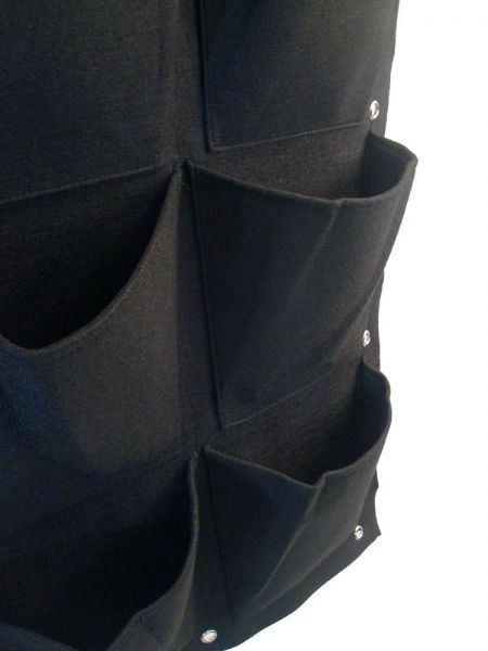 Vaso Feltro Appendibile - 9 Tasche Verde Verticale